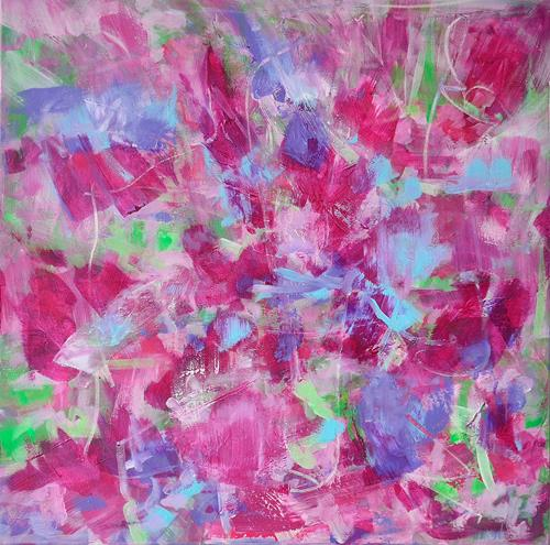 Christine Claudia Weber, Mein Garten, Abstraktes, Natur, Abstrakte Kunst