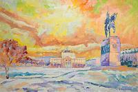 deniskujundzicart-Architektur-Landschaft-Moderne-Impressionismus-Neo-Impressionismus
