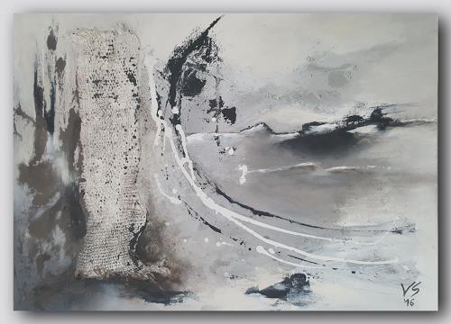 Volker Senzel, Eiszeit 2, Landschaft: Winter, Fantasie, Gegenwartskunst, Expressionismus