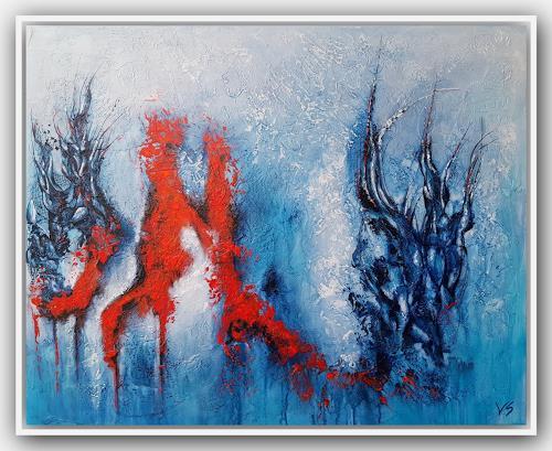 Volker Senzel, Deep Blue, Abstraktes, Mythologie, Abstrakte Kunst