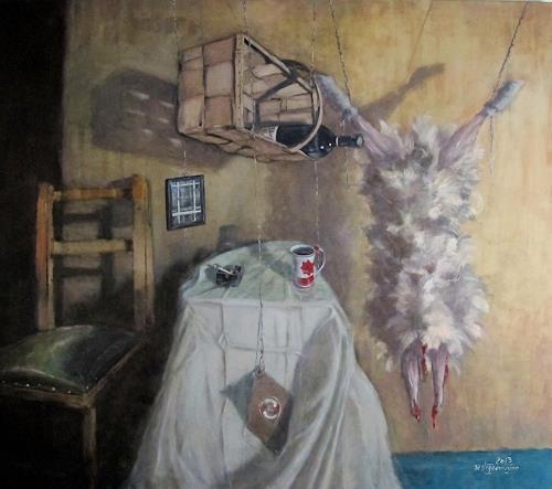 Joachim JORI Niggemeyer, Der Süden in mir, Stilleben, Symbolismus, Abstrakter Expressionismus