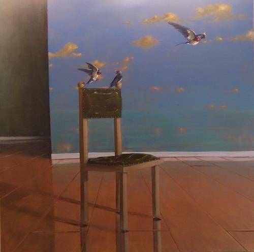 Joachim JORI Niggemeyer, Ankommen eine Illusion II, Gesellschaft, Diverse Gefühle, Symbolismus, Expressionismus