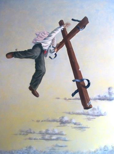 Joachim JORI Niggemeyer, Illusion und Glaube, Glauben, Gesellschaft, Abstrakter Expressionismus