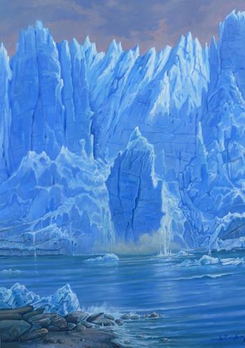 Wilhelm Laufer, Der Gletscher Perito Moreno in Patagonien, Natur: Wasser, Expressionismus