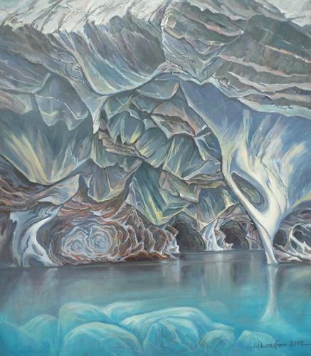 Wilhelm Laufer, Marmorhöhlen bei Tranquilla am See Carrera in Patagonien, Natur: Gestein, Naturalismus, Expressionismus