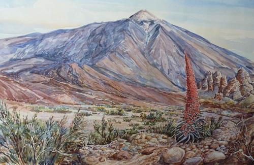 Wilhelm Laufer, Pico del Teide, Natur: Gestein, Natur: Diverse, Naturalismus