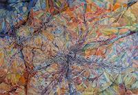 Wilhelm-Laufer-Fantasie-Abstraktes-Moderne-Abstrakte-Kunst-Informel