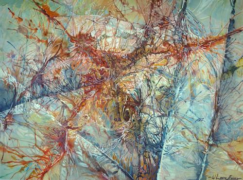 Wilhelm Laufer, Netzwerk, Diverses, Abstraktes, Informel, Abstrakter Expressionismus
