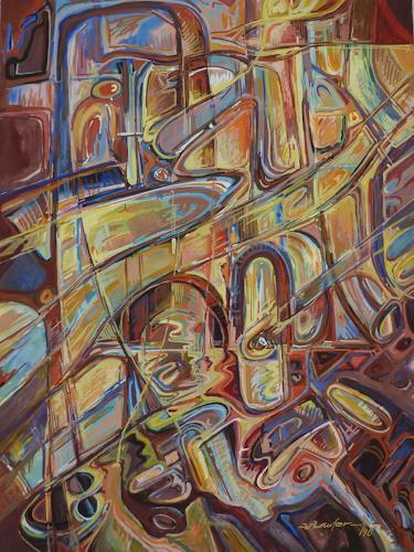 Wilhelm Laufer, Stadtgefühl, Abstraktes, Fantasie, expressiver Realismus