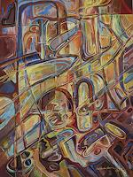 Wilhelm-Laufer-Abstraktes-Fantasie-Moderne-expressiver-Realismus