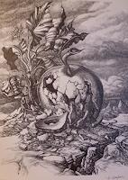 Wilhelm-Laufer-Fantasie-Natur-Gestein-Gegenwartskunst-Postsurrealismus