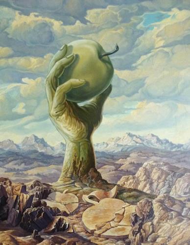 Wilhelm Laufer, Monument, Natur: Erde, Symbol, Surrealismus, Abstrakter Expressionismus