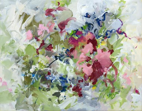 Thomas Steyer, Ein feuchter Sommertag, Abstraktes, Gefühle: Freude, Abstrakter Expressionismus, Expressionismus
