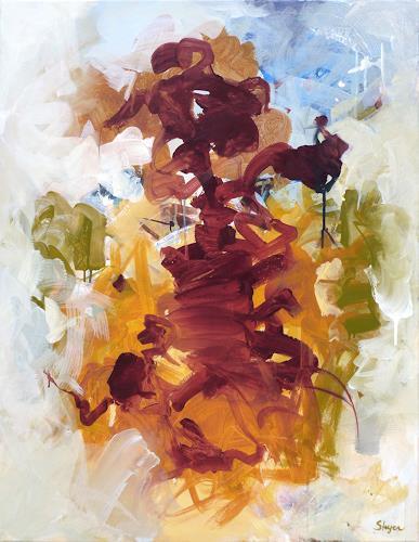Thomas Steyer, Herbstlicht, Abstraktes, Gefühle, Abstrakter Expressionismus