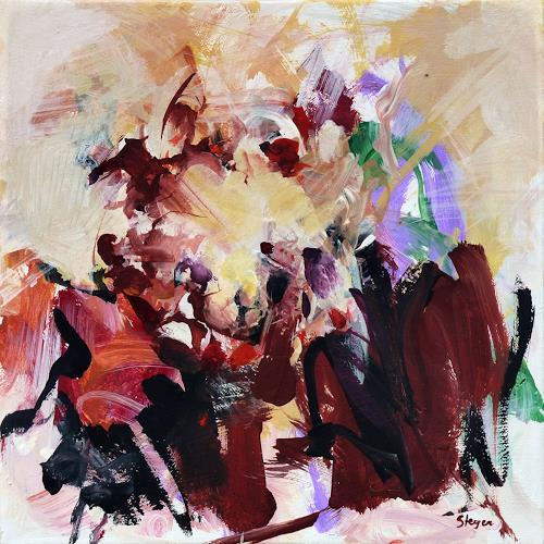 Thomas Steyer, Das Gruppentreffen, Abstraktes, Gefühle, Abstrakter Expressionismus