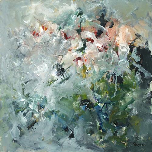 Thomas Steyer, Wintereinbruch, Abstraktes, Gefühle, Abstrakter Expressionismus