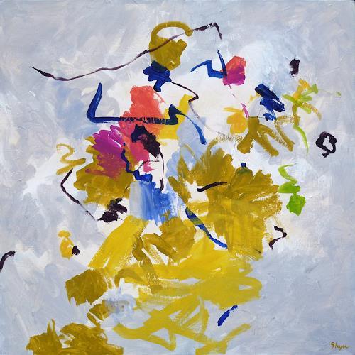 Thomas Steyer, Spaziergang mit Löwe, Abstraktes, Gefühle, Abstrakter Expressionismus