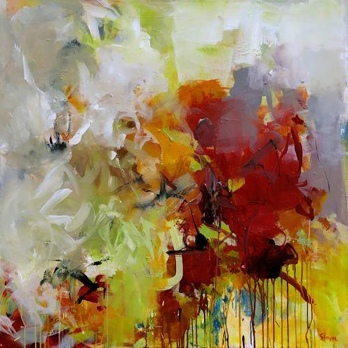 Thomas Steyer, Gritty Garnock Way, Abstraktes, Gefühle, Abstrakter Expressionismus