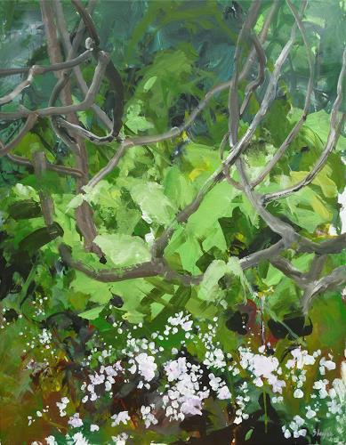 Thomas Steyer, Olot, Pflanzen: Bäume, Abstraktes, Abstrakter Expressionismus
