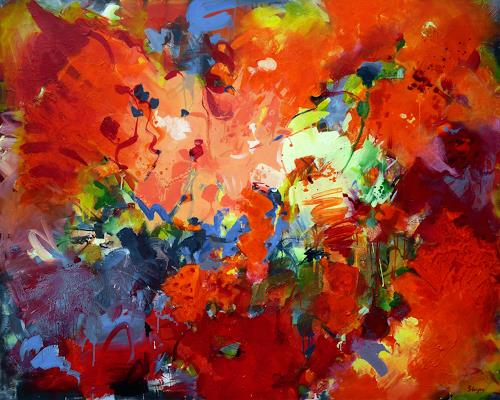 Thomas Steyer, Die Geburtstagsfeier, Abstraktes, Gefühle, Abstrakter Expressionismus