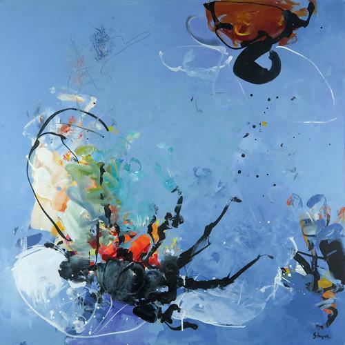 Thomas Steyer, Die Untersuchung, Abstraktes, Natur, Abstrakter Expressionismus