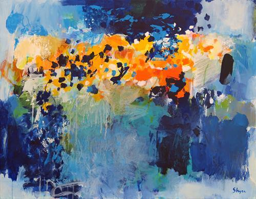 Thomas Steyer, Chinese Whispers, Abstraktes, Gefühle, Abstrakter Expressionismus, Expressionismus