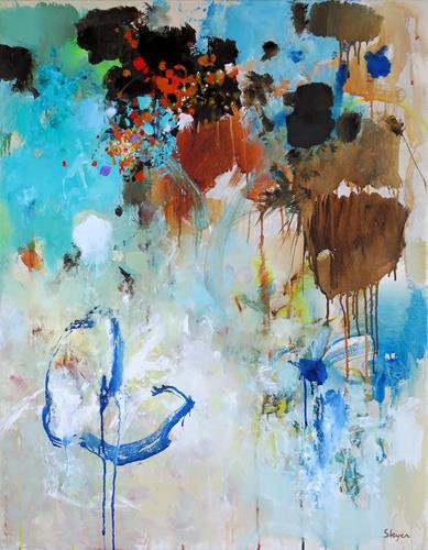 Thomas Steyer, Blind-Man's Buff, Abstraktes, Gefühle, Abstrakter Expressionismus