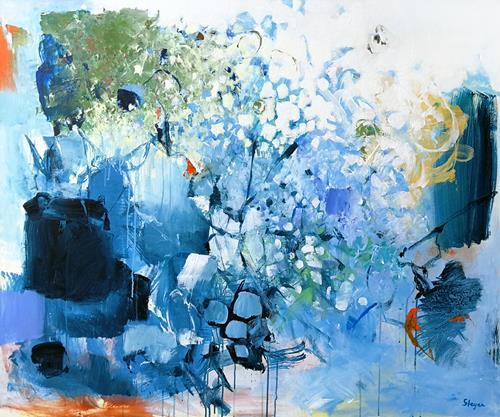Thomas Steyer, Winter Wonderland, Abstraktes, Gefühle, Abstrakter Expressionismus, Expressionismus