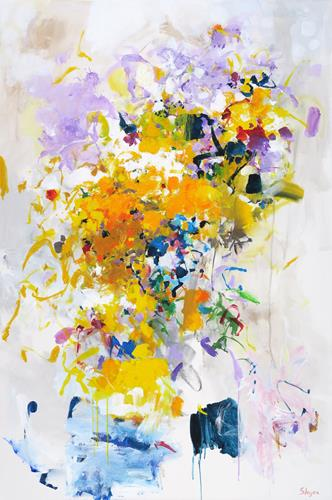 Thomas Steyer, Snow in Spring, Abstraktes, Gefühle, Abstrakter Expressionismus