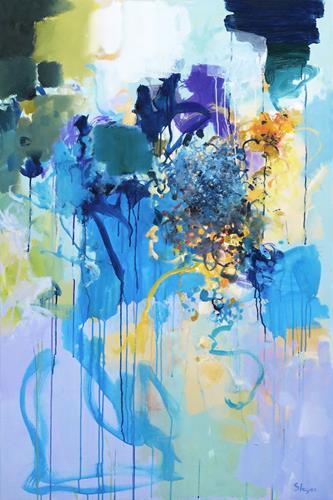 Thomas Steyer, Rainfall, Abstraktes, Gefühle, Abstrakter Expressionismus