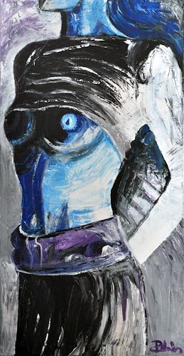 Robin W. Schmid, Blaue Haut, Akt/Erotik: Akt Frau, Freizeit, Gegenwartskunst
