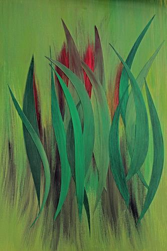 Friedhelm Raffel, Blattwerk, Pflanzen, Impressionismus