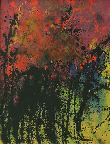 Friedhelm Raffel, Korallenstrauch, Fantasie, Impressionismus, Abstrakter Expressionismus