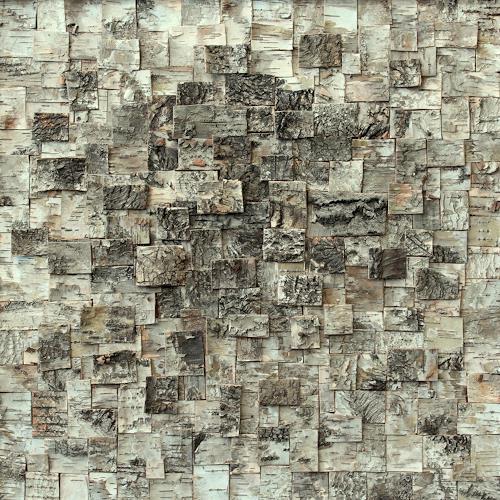 Friedhelm Raffel, Rindenmosaik I   Murus Cortex Betulae, Abstraktes, Impressionismus, Abstrakter Expressionismus