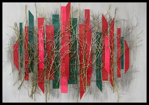 Friedhelm Raffel, Rote Vertikale, Abstraktes, Abstrakte Kunst, Abstrakter Expressionismus