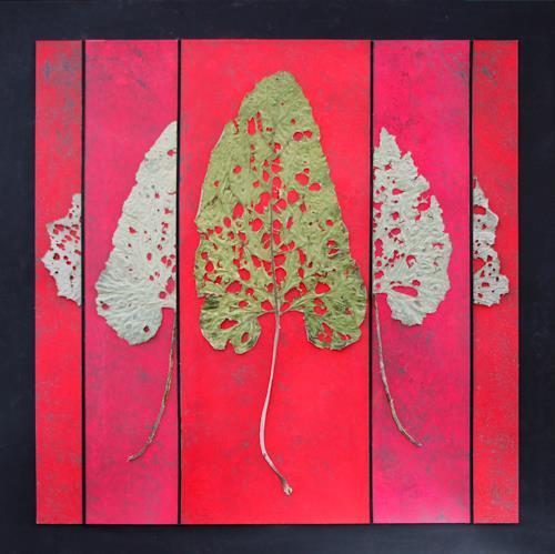 Friedhelm Raffel, Blatt-Grafik I, Pflanzen, Abstrakte Kunst