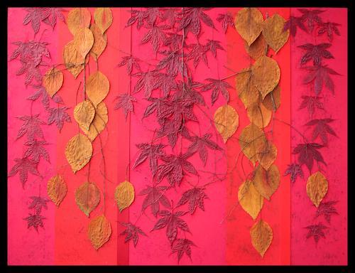 Friedhelm Raffel, Blattfall, Pflanzen, Abstrakte Kunst