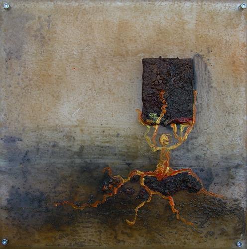 Johanna Feller, verflixt I, Diverse Menschen, Situationen, Symbolismus, Abstrakter Expressionismus