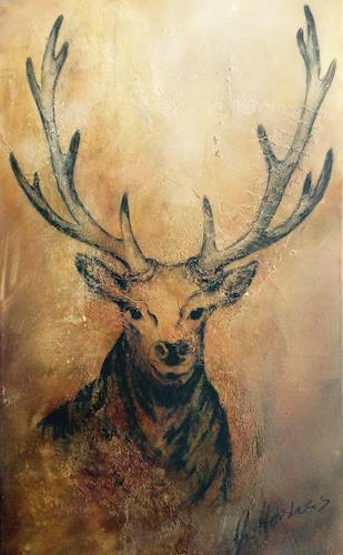 Anita Hörskens, Deer, Jagd, Tiere: Land, Gegenwartskunst