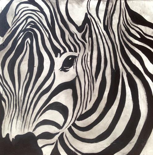 Anita Hörskens, Zebra, Tiere, Jagd, Gegenwartskunst