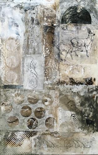 Anita Hörskens, Deer, Tiere: Land, Jagd, Gegenwartskunst, Abstrakter Expressionismus