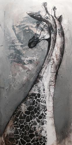 Anita Hörskens, Giraffe, Tiere, Jagd, Gegenwartskunst, Abstrakter Expressionismus