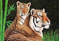 Mona-Rothenpieler-Tiere-Land-Tiere-Land-Moderne-Abstrakte-Kunst