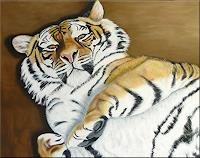 Mona-Rothenpieler-Tiere-Land-Tiere-Moderne-Abstrakte-Kunst