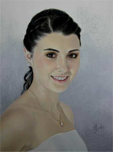 Olga Sarabarina, Portrait in Pastell, Menschen: Porträt, Menschen: Frau, Realismus, Expressionismus