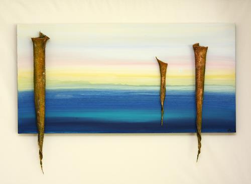 Astrid Hörr-Mann, Urklang III, Abstraktes, Symbol, Gegenwartskunst