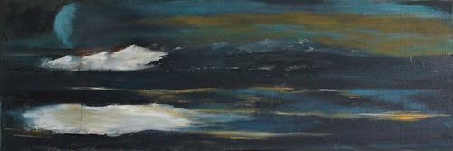Ingeborg Müller, blue moon 2, Landschaft, Abstraktes, Gegenwartskunst