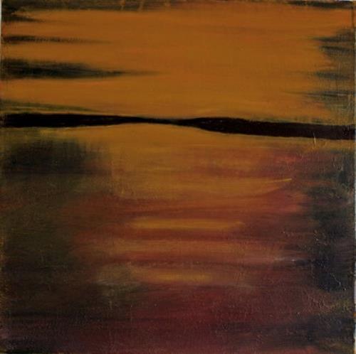 Ingeborg Müller, Golden, Diverse Landschaften, Natur: Wasser, Moderne