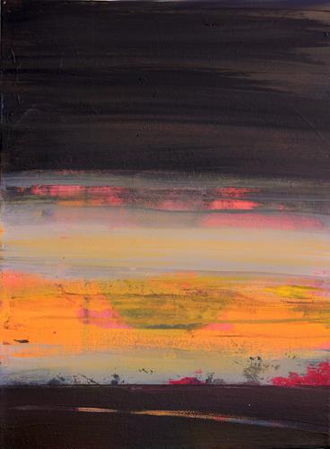 Ingeborg Müller, in die Nacht, Natur, Landschaft, Moderne, Abstrakter Expressionismus