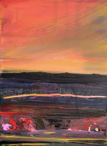Ingeborg Müller, O/T, Abstraktes, Landschaft, Expressionismus